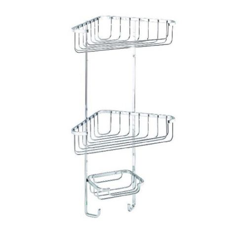 Croydex 3 Tier Bathroom Corner Organiser Basket Rack